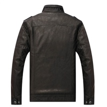 Hot ! High Quality New Winter Fashion Men's Coat Leather Jacket (male coat color image 9