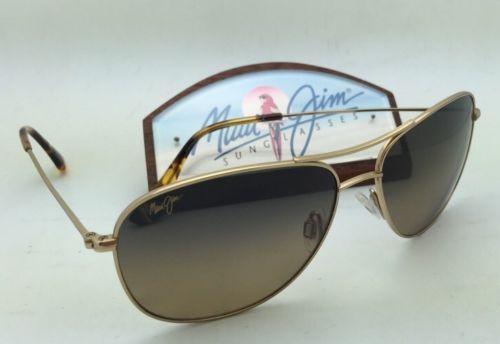Polarized MAUI JIM Sunglasses CLIFF HOUSE MJ 247-16 Gold Frame w/HCL Bronze Lens