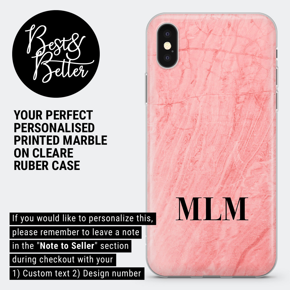 Personalised phone case marble custom name cover for iPhone Samsung Huawei BB3