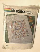 Vanessa Ann Vintage Bucilla Stamped Cross Stitch Crib Cover ABC No. 49156 - $44.50