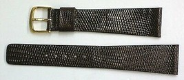 Seiko 21mm Brown Genuine Classic Lizard Authentic Watch Band Strap - $22.80