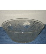 Vintage Glass Crystal Clear Pressed Cut Round Candy Nut Bowl Dish Star Embossed - $12.16