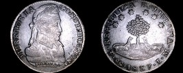 1837-PTS LM Bolivian 8 Soles World Silver Coin - Bolivia - $249.99