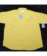 NWT NEW COLUMBIA  Bahama II Mens SS Button Up SHIRT PFG SZ 3XT UPF 30 - $52.98