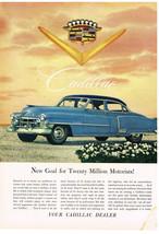 Vintage 1952 Magazine Ad for Cadillac New Goal For Twenty Million Motorists - $5.93