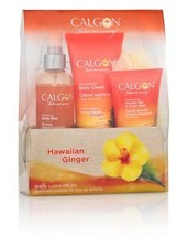 CALGON* 5pc Set HAWAIIAN GINGER Bath+Body BEAUTY LUXURY GIFT Cream+Mist+... - $24.74