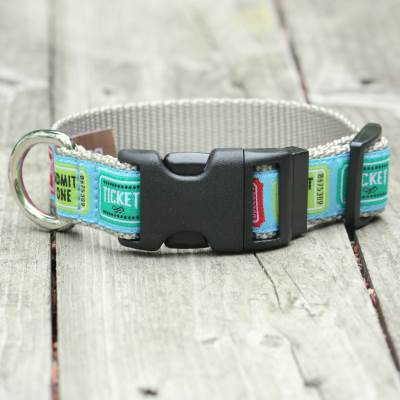 At The Movies Jacquard Adjustable Dog Collar / Made in Japan