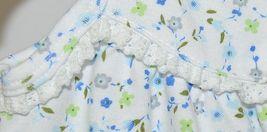SnoPea Two Piece Flowered Sleeveless Shirt Light Blue Pants Size 9 months image 3