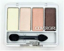 New Cover Girl Eye Enhancers Shadow #284 Blushing Nudes 4-Kit Sealed Qui... - $4.49
