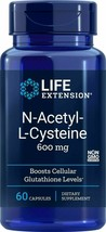 Life Extension N-Acetyl-L-Cysteine, 600 mg, 60 capsules - $13.37