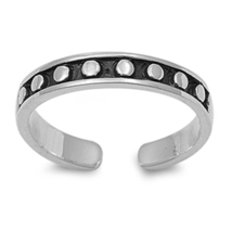 10k White Gold 925 Sterling Silver Dot Mid Finger Bali Style Adjutable T... - $9.99