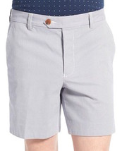 Mens French Connection Pinstripe Print Marine Blue Trouser Shorts 59FBB - $48.99