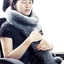 Travel Neck Pillow Inflatable Sleeping Cervical Support Nap Head Rest Ai... - $12.90