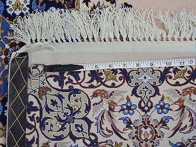 4'x13' Wool And Silk Gallery Size Persian Esfahan 500 Kpsi Handmade Rug G22014