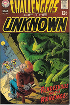Challengers of the Unknown Comic Book #66, DC Comics 1969 VERY FINE- - $19.27