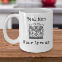 Freemason coffee mug - Real Men Wear Aprons - Masonic accessories gift symbol - $20.90