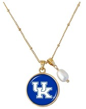 Kentucky Wildcats Diana Gold and Pearl Saturn Necklace Jewelry Gift Blue UK - $16.82