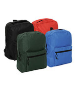 "15"" Basic Back Packs  4 Assorted Colors Black, Blue Red or Green Only $2... - $29.99"