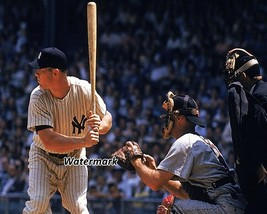 MLB New York Yankees Mickey Mantle at the Plate Color 8 X 10 Photo  Picture - $6.99