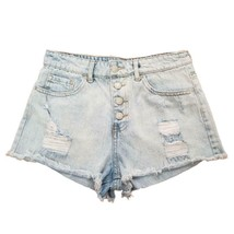 Forever 21 Distressed High Waist Denim Booty Shorts Ladies Size 27 - $25.16