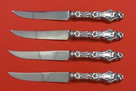 """Lily by Whiting Sterling Silver Steak Knife Set 4pc HHWS  Custom Made 8 1/2"""" - $452.30"""