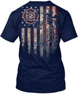 Editon Firefighter U.s Flag - Honor Respect Courage Hanes Tagless Tee T-Shirt - $24.00