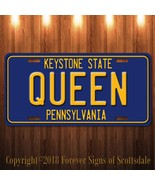 Queen Rock and Roll Group Pennsylvania Aluminum Vanity License Plate Blu... - $12.82