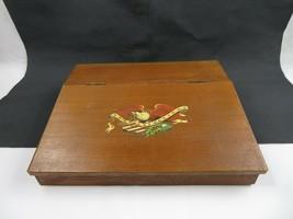 Vintage Wood Top Writing Lap Desk Secretary Storage Viking American Eagle - $120.00