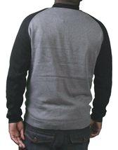 Kr3w Mens Grey Black Cotton Bridgeton Knit Button Down Cardigan Winter Sweater image 3