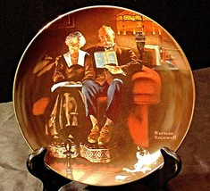 """1983 """"Evenings Ease"""" by Norman Rockwell Plate with Box ( Knowles ) AA20-CP2187 V"""