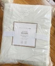 Pottery Barn Teen Set 2 Ashlyn Tufted Drape Ivory 52x84L Curtains Blackout Pair - $199.00