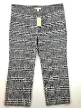 New Michael Kors Women Pants WF83GTN7FL Black White 2XL Msrp $125 - $43.99