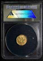 RARE 2009 Token Dan Carr Indian Eagle 1/10 GOLD .999 ANACS MS69 Lot A 468 image 2