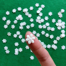 50 Tiny White Flowers,Card Making,Miniature Applique,Craft Supplies,Sewi... - $7.50