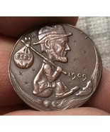 Hobo Nickel 1909 HAND CARVED Lincoln WHEAT Penny RARE COIN - $11.99