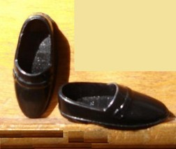 Ken doll shoes formal dress black shoes classic look - $6.99