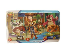 Disney Toy Story Puzzle In Tin- 3 Puzzles Become 1 Large Panorama New - $17.77