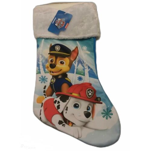 "Primary image for NWT Paw Patrol 16"" Christmas Stocking with Fur Cuff  Fabric Multi-Color Marshall"