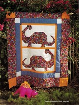 8 Cuddly Patchwork Animal Quilts Comforters Dinosaur Kitten Horse Sew Pattern - $13.99