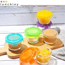 Glass Baby Food Storage Containers with Lids | Set of 12 | 4 oz Glass Food Conta image 7