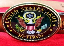 U.S. Army Retired Epoxy Belt Buckle - New - $16.78