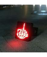 Skeleton Middle Finger LED Hitch Cover - Brake Light - $49.95