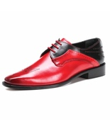 LIBERTYZENO Oxford Dress Shoes for Men Leather Upper Semi Brogue  Lace U... - $64.99