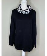 CJ Banks NWT $54.95 Women's Turtleneck sweater Size 14 Black M1 - $19.73
