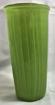 Hoosier Green Glass Vase 10592 Ribbed Mid Century Vintage  - $18.69