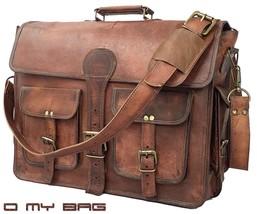 Vintage Brown Leather Messenger men's Shoulder Laptop Bag computer Satch... - $64.79+