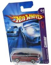 2007 Hot Wheels 1969 Chevrolet Camaro Convertible Maroon Red
