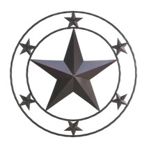 Decorative Metal Wall Art, Texas Star Modern Iron Metal Wall Decor - $39.99