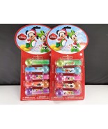 Lot of 2 Lip Balm Gloss Mickey Mouse Friends 5 Pack Party Favors Christm... - $12.46