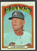 Atlanta Braves Lum Harris 1972 Topps Baseball Card #484 - $0.99